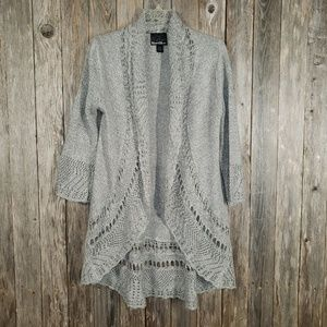 Rivet & Blues Gray Lightweight Cardigan Sweater